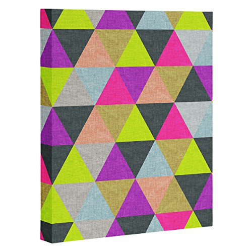 "DENY Designs Bianca Green Ocean of Pyramid Art Canvas, 16"" x 20"""