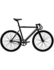 State Bicycle 6061 Black Label Fixed Gear Bike - Galaxy, 55 cm