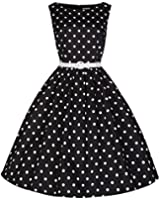 Lindy Bop 'Audrey' Classy Vintage Style 1950's Rockabilly Swing Evening Dress
