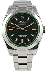 ROLEX MILGAUSS BLACK DIAL STAINLESS STEEL WATCH 116400GV