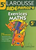 Aide-M�moire : Exercices de maths, 5�me