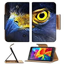 buy Msd Premium Samsung Galaxy Tab 4 7.0 Inch Flip Pu Leather Wallet Case Serpent Eagle Close Up Face Spilornis Cheela Image 16905821