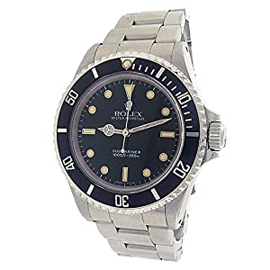 Rolex Submariner automatic-self-wind black mens Watch 14060M (Certified Pre-owned)