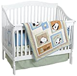 Lambs & Ivy Peek a Boo Snoopy 4 Piece Bedding Set