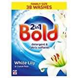 Bold 2In1 Powder White Lily & Crystal Rain 38 Washes (Pack of 4)