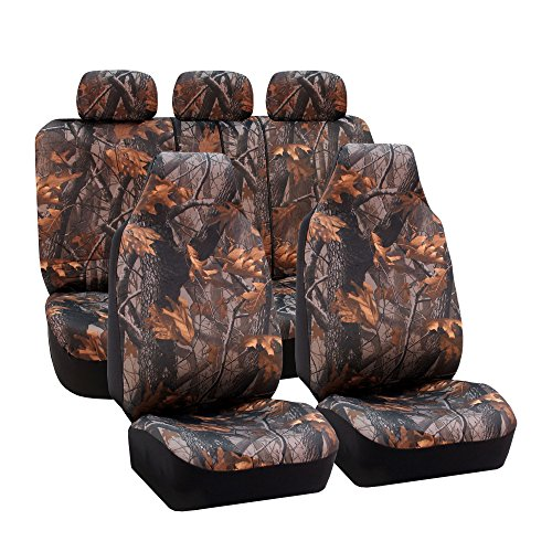 FH Group Universal Fit Full Set Car Seat Cover, (Hunting Camouflage) (Airbag compatible and Split Bench, Fit Most Car, Truck, Suv, or Van, FH-FB111115) (Camouflage Truck Seat Covers compare prices)