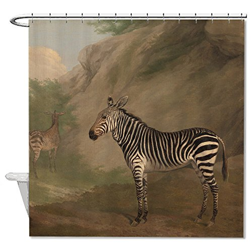 whiangfsoo-hartmanns-mountain-zebra-soft-polyester-fabric-bathroom-shower-curtain-liner-48x72