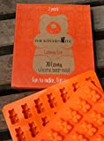 2 Pack of 28 Cavity Silicone Bear Molds by The Kitchen Fix - Make Healthy Sugar Free Gummys & Candies at Home. FREE Recipe Guide with your Gummy Bear Maker.