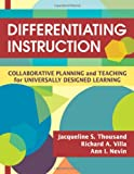 img - for Differentiating Instruction: Collaborative Planning and Teaching for Universally Designed Learning book / textbook / text book