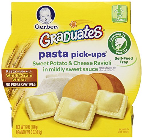 Gerber Graduates Pasta Pick Ups, Sweet Potato and Cheese Ravioli, 6 Ounce (Pack of 8)