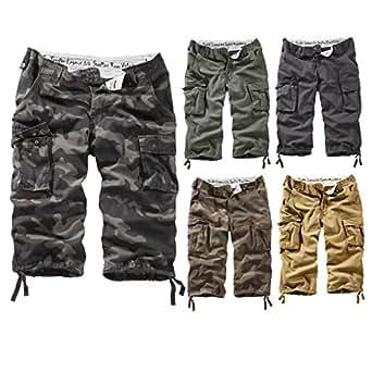 Surplus Homme Trooper Legend 3/4 Shorts, olive washed S