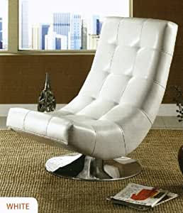 Amazon Com Trinidad Contemporary Style White Leather