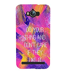 EPICCASE Do your thing Mobile Back Case Cover For Asus Zenfone Max (Designer Case)