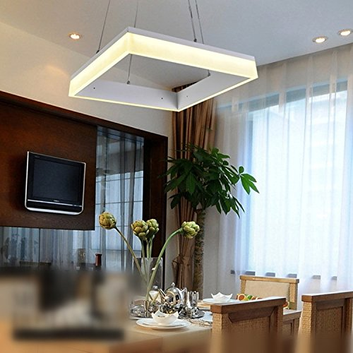 Twopages 28W Square Led Modern Pendant Light 100~240V Input Chandeliers