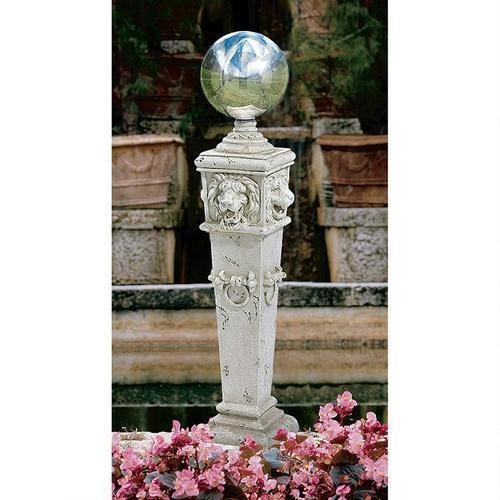 Lion Head Gazing Globe Design Garden Statue English English Garden
