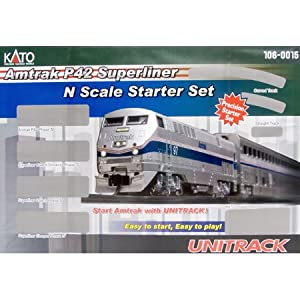 Kato Passenger Set Amtrak P42 Superliner Starter Set