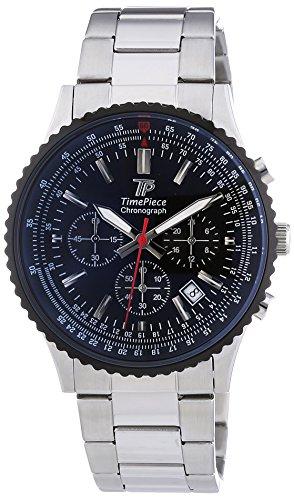 Time-Piece-Herren-Armbanduhr-Sporty-Chronograph-Quarz-Edelstahl-TPGS-20136-21M