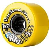 Sector 9 Race Formula Skateboard Wheel, Yellow, 76mm 78A by Sector 9