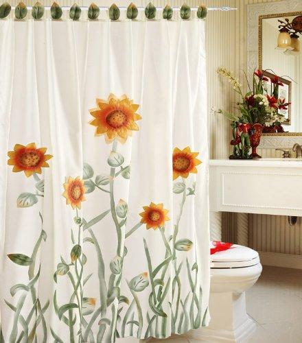 sunflower shower curtains sunflowers decor for your bathroom