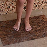 Hip-o Modern Living Foldable Teak Indoor/Outdoor Bath, Shower and Floor Mat