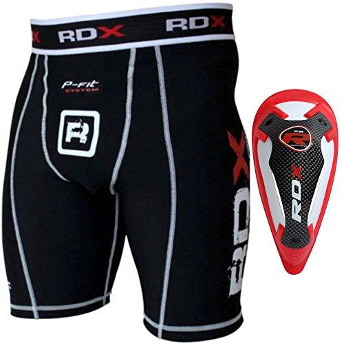 RDX Thai Boxe Compressione Pantaloncini Sudore MMA Termici Compression Shorts Boxer Uomo Base Layer