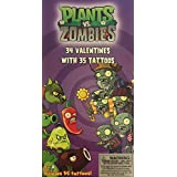 Plants vs. Zombies Valentines (34 count with 35 tattoos)