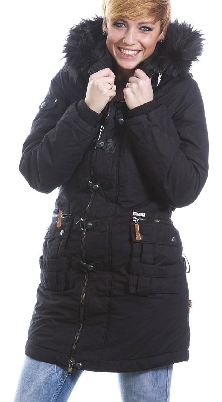 Khujo AYA mit innerer Jacke Winter Mantel Parka schwarz günstig kaufen