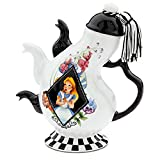 Disney Parks Alice in Wonderland Mad Hatter Pattern Ceramic Triple Spout Teapot