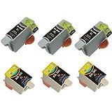 6 Compatible Ink Cartridges for Kodak 30 XL ESP C100 C110 C115 C300 C310 C315 C330 C360, Office 2100 2150 2170 ALL-In-One, Hero 3.1 5.1 ALL-In-One
