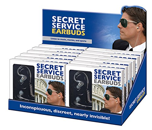 """Secret Service"" Earbuds for Phone Tablet and Music Player with 3.5MM Jack"