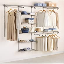 Rubbermaid 3H89 Configurations 4-to-8-Foot Deluxe Custom Closet Kit, Titanium