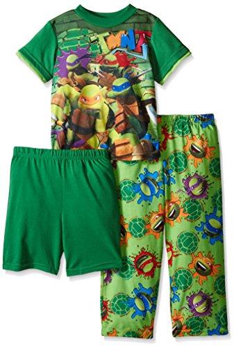 Teenage Mutant Ninja Turtles Big Boys City Smarts and Graffiti Art 3-Piece Pajama Set Green 8 (Ninja Turtles Pajamas Set compare prices)