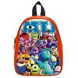 Generic Custom Cute Disney Monsters University Roles Printed Red School Bag Backpack Fit Short Trip PU Leather Large