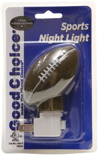 Good Choice 205-F Brown Football Shaped Ul Listed Manual Sports Night Light