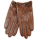 WARMEN Sexy Women's Genuine Nappa Leather Wrist Driving Unlined Gloves by NYC Leather Factory Outlet
