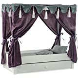 """For American Girl Doll Canopy Bed & Trundle Storage - 18"""" Inch Dolls Furniture"""