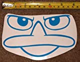 Perry the Platypus Face! 6 x 3.5 HQ Single Color Vinyl Sticker Decal!