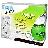 Bornfree Natural Feeding Glass Bottles - Slow Flow - 3 Pack - 5 oz