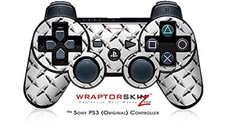 Sony PS3 Controller Skin - Diamond Plate Metal