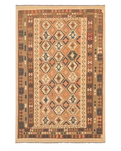 eCarpet Gallery One-of-a-Kind Anatolian Kilim Rug, Copper/Light Gold, 6' 6 x 9' 10