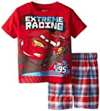 Disney Cars Boys 2-7 Plaid Short Set