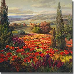 Fields of Bloom by Roberto Lombardi Premium Gallery Wrapped Canvas Giclee Art (Ready to Hang)