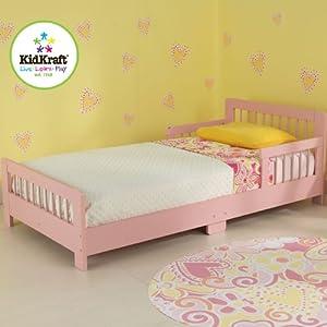 Slatted Toddler Bed Pink by KidKraft