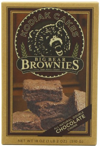 Kodiak Cakes Big Bear Brownie Mix, Double Chocolate Chunk, 18-Ounce Boxes (Pack of 6)