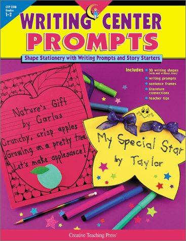 Writing Center Prompts: Shape Stationery and Writing Prompts and Story Starters: Grades 1-2