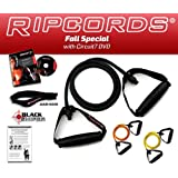 *** LIFETIME REPLACEMENT WARRANTY *** Ripcords Special - Resistance Bands Kit with DVD