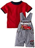 Disney Baby-Boys Infant Mcqueen Cars Woven Shortall Set