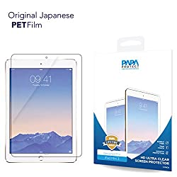 iPad Mini 3 Papa Protect HD Clear Screen Protector | Pack of 2 Film Protectors | Original Japanese PET Film | True Touch | Perfect Fit | Scratch Protection | Unmatched Clarity | Bubble Free Application | Lifetime Warranty