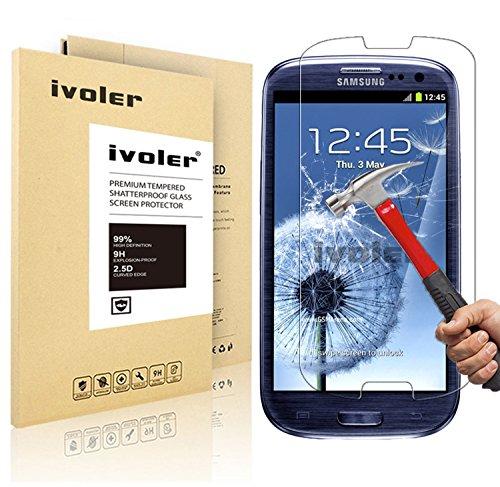 Pellicola Vetro Temperato Samsung Galaxy S3 / S3 Neo, iVoler® ** [Protezione Antigraffi] **Anti-riflesso Ultra-Clear** Ultra resistente in Pellicola Samsung Galaxy S3 / S3 Neo, Pellicola Protettiva Protezione Protettore Glass Screen Protector per Samsung Galaxy S3 / S3 Neo.Vetro con Durezza 9H, Spessore di 0,2 mm,Bordi Arrotondati da 2,5D - Garanzia a Vita