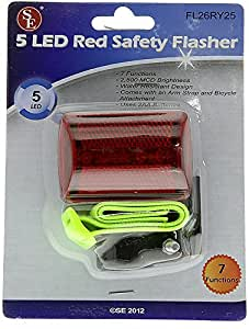 High-Visibility RED LED Personal Safety Flasher - Walking, Running, Biking